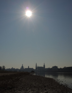 Sonnenfinsternis in Dresden